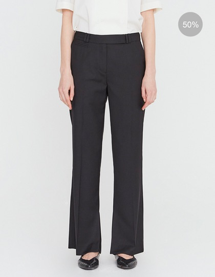20SS TAILORED TROUSERS WITH CUFF SLIT DETAIL - BLACK