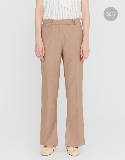 20SS TAILORED TROUSERS WITH CUFF SLIT DETAIL - BROWN MELANGE